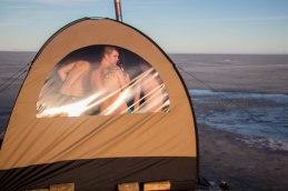 Mesi tare telksaun Peipsi järve jääl