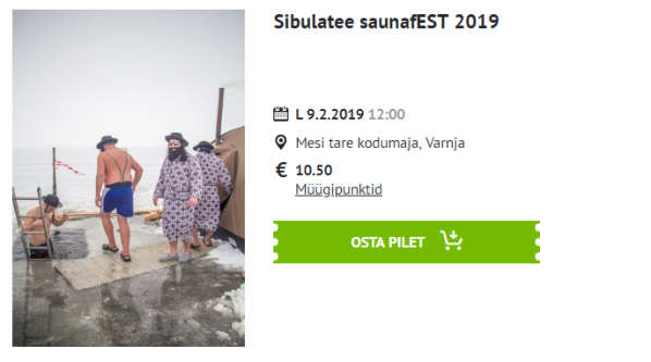 sibulatee saunafest Piletilevis